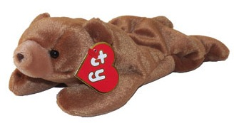 Brownie was one of the Original Nine beanie babies produced back in 1993. 2fa45444745