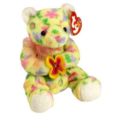 Ty Beanie Baby New York Rose Bear Show Exclusive 2005 MWMT