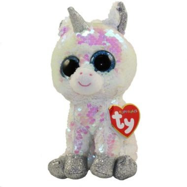 "TY Beanie Boos Yappy the Chihuahua 10/"" MED w// Reversible Sequins Red Heart Tag"