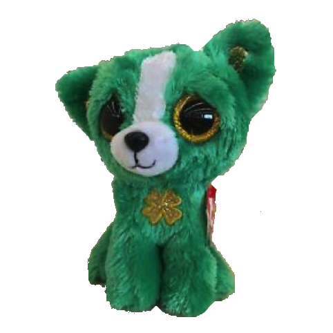"""PAT/'S DAY NEW RELEASE FOR ST 6/"""" BOOS TY MWMT EMERALD THE CHIHUAHUA BEANIE BOO"""