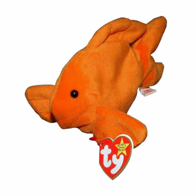 TY Beanie Baby Goldie The Fish W//Style # Tag Retired   DOB 1994  PVC Nov 14th