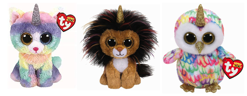f48bc69d0ae The first three Beanie Boos in this range are Heather the Unicorn Cat